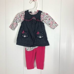 NWOT Carter's Newborn 3 piece outfit Long Sleeves